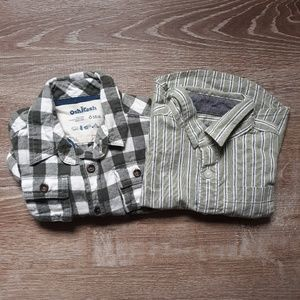 2 long sleeved button up shirts